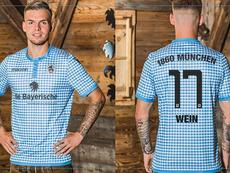 Daniel Wein models the new kit. Twitter/TSV1860