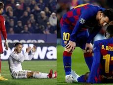 Hazard y Dembélé, de lesión en lesión. Montaje/EFE
