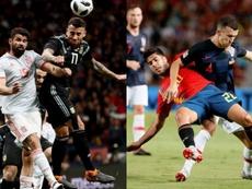 Argentina y Croacia fueron goleadas por España. EFE