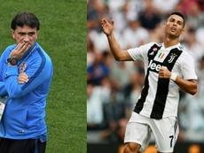 Dalic su Cristiano Ronaldo. EFE/AFP