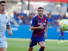 Abel Ruiz sigue con su futuro en el aire. Twitter/FCBarcelonaB