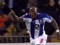 Porto vence o Young Boys de virada com dois gols de Aboubakar. Captura/Movistar