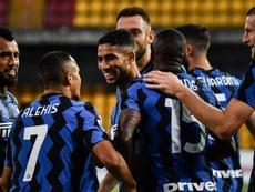 Achraf fue clave en la victoria del Inter. AFP