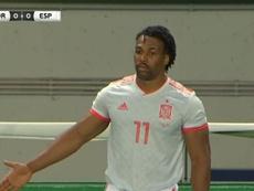 Traoré estreou e jogou bem em Lisboa. Captura/TVE