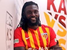 Adebayor has completed his move to Kayserispor. Kayserispor