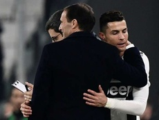Adieux émouvants de Cristiano à Allegri. AFP