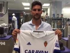 El Zaragoza se hace con el fichaje de Adrián. Twitter/RealZaragoza