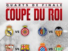 Affiches des 1/4 de finale de Coupe du Roi 18-19. BeSoccer