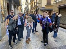 La afición del Becerril disfrutó en San Sebastián. CDBecerril