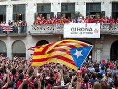 O clube catalão vai jogar na primeira divisão espanhola pela primeira vez. EFE