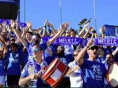 El Melilla jugará las semifinales de los 'play off' de ascenso a Segunda División. Twitter/UDMelilla