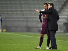 Pochettino dirigió su primer partido con el PSG. AFP