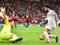 Salah set another Liverpool record against Bournemouth. AFP
