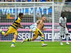 Dimarco fue el autor del gol del triunfo para el Parma. AFP
