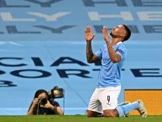 Gabriel Jesus deve continuar sendo titular com a ausência de Sergio Aguero. AFP