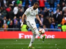 Butragueño elogió la exhibición de Benzema. AFP