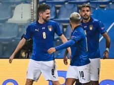 A Itália recebeu a Polônia e garantiu vitória por 2 a 0. AFP