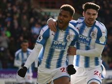 Mounié anotó el gol del triunfo del Huddersfield. AFP