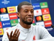Wijnaldum didn't drink at Liverpool's party so he could be fit for the Nations League. AFP