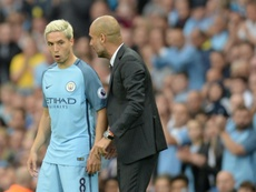 Samir Nasri was left unwanted by Pep Guardiola. AFP