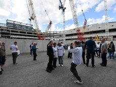 The completion date of Spurs' new stadium has been delayed. AFP