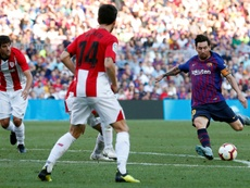Messi came on as a substitute against Athletic. EFE/Archivo