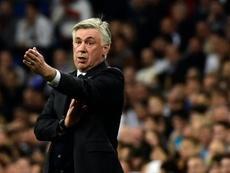 Ancelotti lamentó el empate de su equipo. AFP