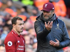 Shaqiri has called for his teammates to be 'more brave'. AFP