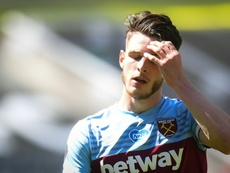 Declan Rice is key to West Ham's future. AFP