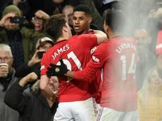 Rashford offre la victoire à United. AFP