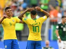 Casemiro, capitán con Brasil. AFP