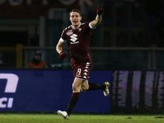 Belotti susciterait les convoitises de l'Atlético, Séville et Valence. AFP