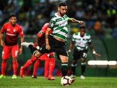 Bruno Fernandes podría acabar en el Madrid. AFP