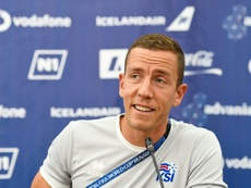 Hannes Halldorsson jugará las dos próximas temporadas en Azerbaiyán. AFP