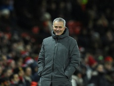 Mourinho enjoys celebrating goals. AFP