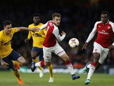 Ramsey looks set to leave Arsenal. AFP