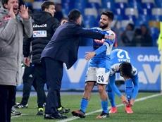 Naples a été éliminé par le Barça. AFP