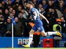 El Chelsea se adelantó con un gol de Olivier Giroud. AFP