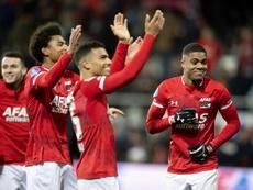 Le Newcastle quiere a Myron Boadu (d). AFP
