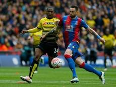 Damien Delaney renueva con el Crystal Palace. AFP
