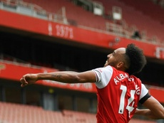 Aubameyang é o goleador do Arsenal. AFP