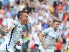 Gareth Southgate podría volver a convocar a Jamie Vardy. AFP
