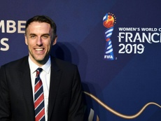 Phil Neville is hoping to mastermind a World Cup triumph next summer. AFP