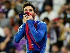 Laporta veut convaincre Messi de rester. AFP