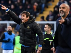 Antonio Conte says Inter are short of midfielders. AFP