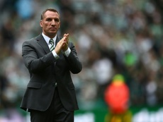 Brendan Rodgers is confident of his Celtic side's chances in the Europa League. AFP