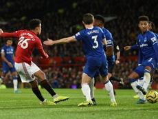 United y Everton empataron en Old Trafford. AFP