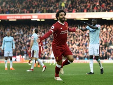 Salah scored his 31st goal of the season against West Ham. AFP