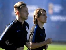 Modric y Rakitic lideran la nueva lista de Croacia. AFP
