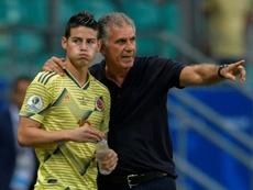 Madrid-Naples, conflit d'intérêts pour James. AFP